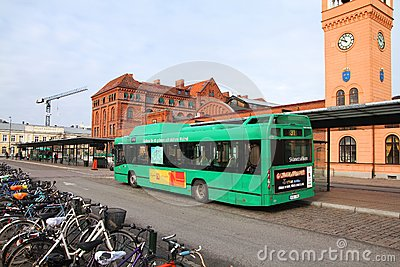 City bus in Sweden Editorial Photo