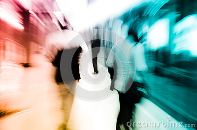 City business passenger blur