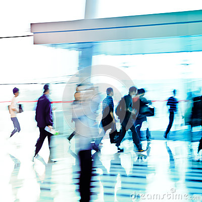 City business people abstract