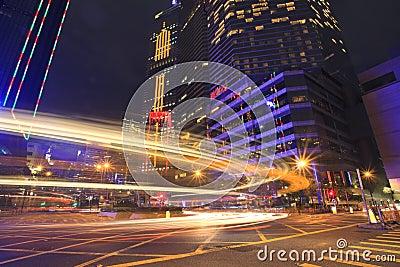 City car light trace