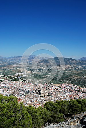 City and Cathedral, Jaen, Spain.