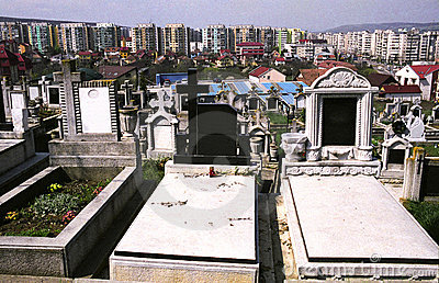 Tombs in cemetery