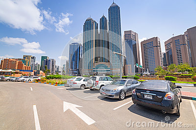 City center of Abu Dhabi, UAE Editorial Stock Image