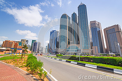 City center of Abu Dhabi, UAE Editorial Photo