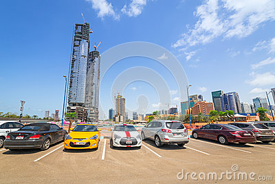City center of Abu Dhabi, UAE Editorial Photography
