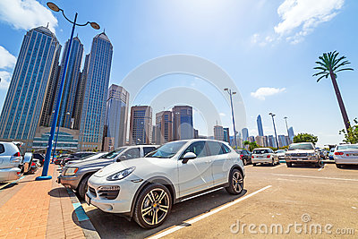 City center of Abu Dhabi, UAE Editorial Stock Photo