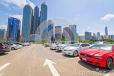 City center of Abu Dhabi, UAE Editorial Image