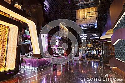 City Center Interior in Las Vegas, NV on August 06, 2013 Editorial Stock Photo