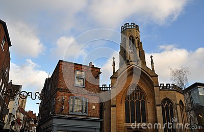 The city centre of York England