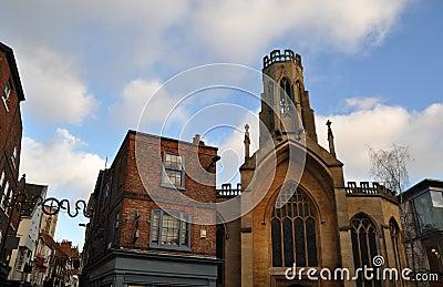 The city centre of York England
