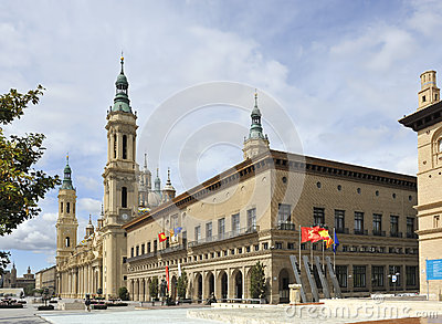City centre of Zaragoza, Spain