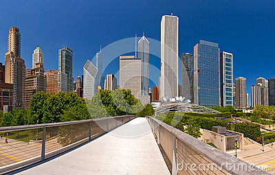 City of Chicago USA, panorama of downtown