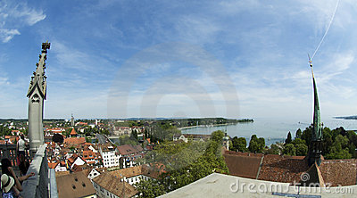 City of Constance - view from cathedral Editorial Stock Photo