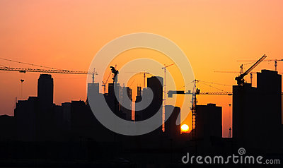 In city construction(Silhouette)