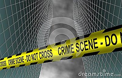 City crime scene