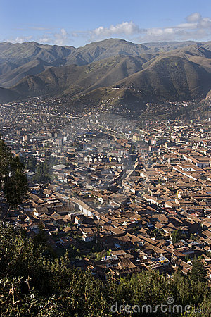 City of Cuzco in Peru