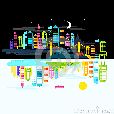 City by Day and Night