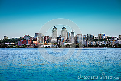 City Dnipropetrovsk and river