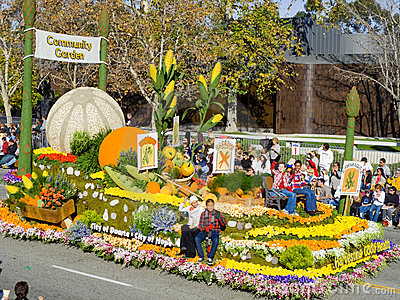 City of Duarte s Rose Bowl Float Editorial Photo