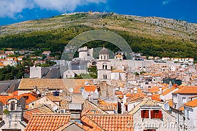 The city of Dubrovnik in Croatia