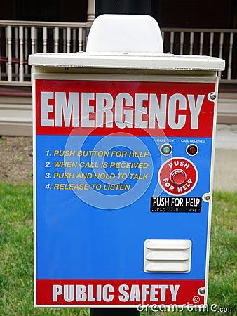 City: emergency assistance panel