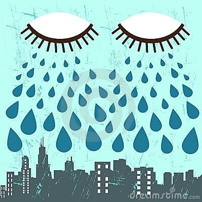 City and eye vector