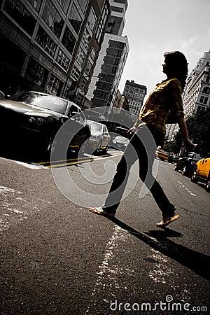City Female Pedestrian