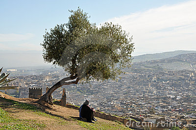 The city of Fes, Morocco