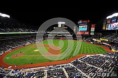 City Field Baseball Stadium Editorial Stock Photo