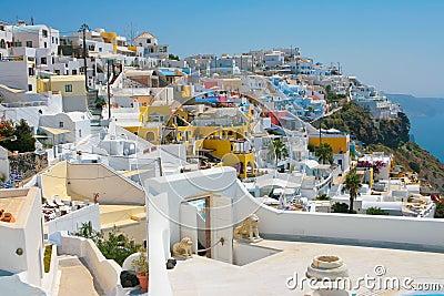 City of Fira in Santorini