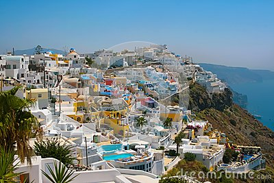 City of Fira in Santorini