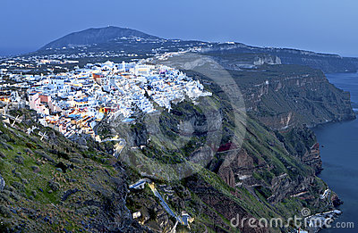City of Fira at Santorini island, Greece