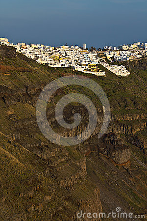City of Fira at Santorini island in Greece