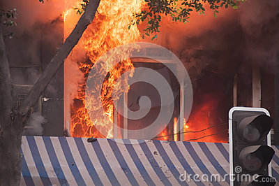 City fire Editorial Stock Photo
