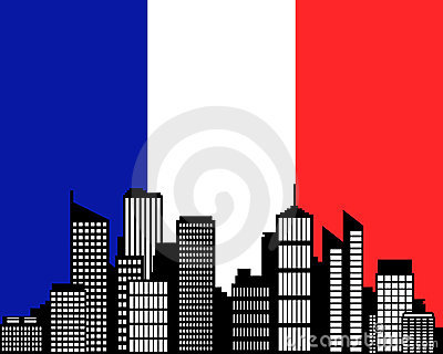 City and flag of France