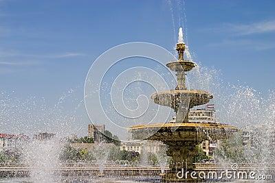 City fountain landscape