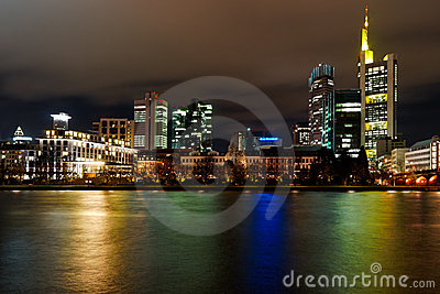 City Frankfurt by night