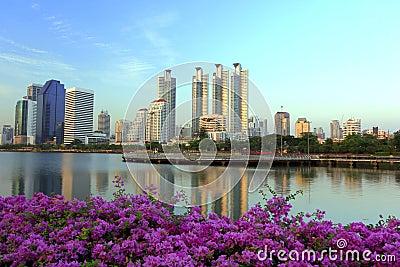 City in the garden in Thailand