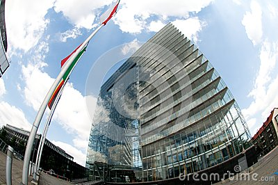 City gate  in Düsseldorf - green building Editorial Photography