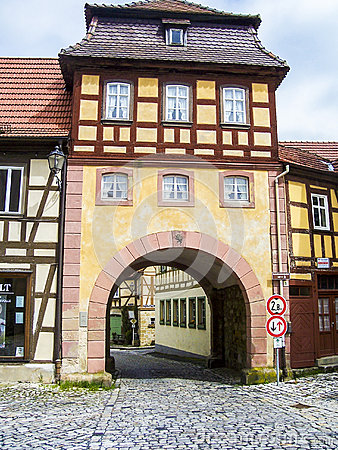 Free City Gate In The Old Town Of Bamberg Stock Images - 48147224