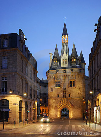City Gate Porte Cailhau in Bordeaux, France