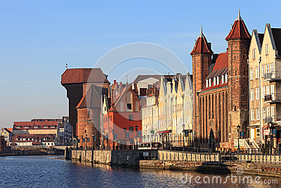 City of Gdansk Editorial Photography