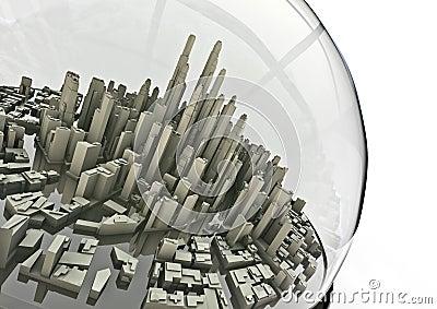 City in a globe