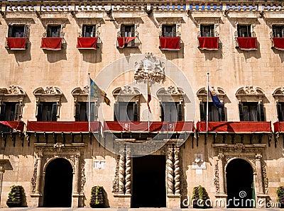 City Hall in Alicante, Spain Editorial Stock Photo