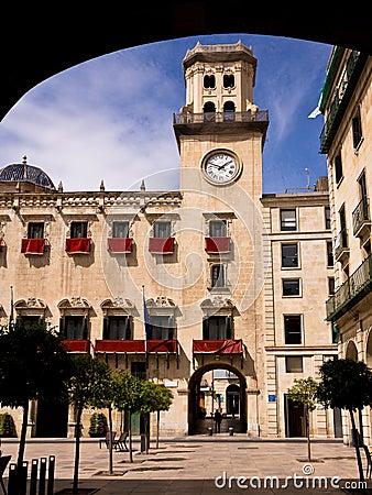 City Hall in Alicante, Spain