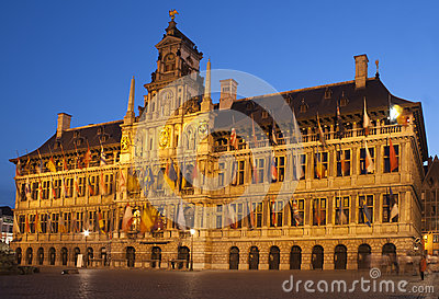 City hall in Antwerp