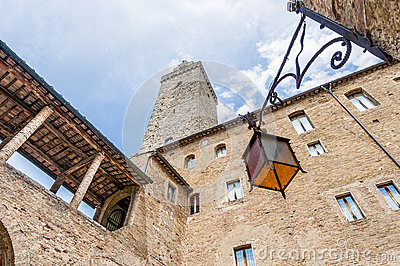 City-hall building in San Gimignano, Italy