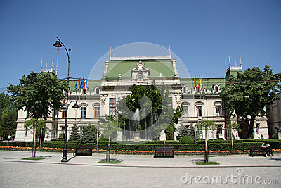 City Hall in Iasi (Romania) Editorial Stock Image