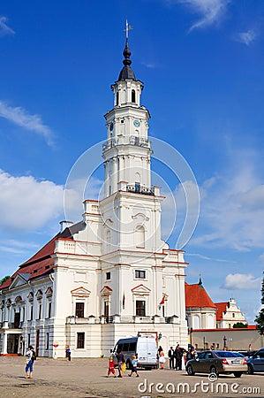 City Hall of Kaunas, Lithuania Editorial Photo