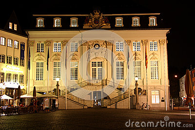 City hall on the market place in Bonn (Germany) at Editorial Image